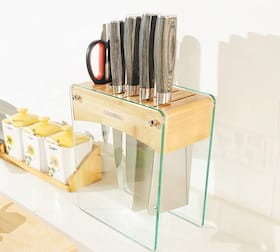 Tempered Glass Kitchen Knife Holder sb