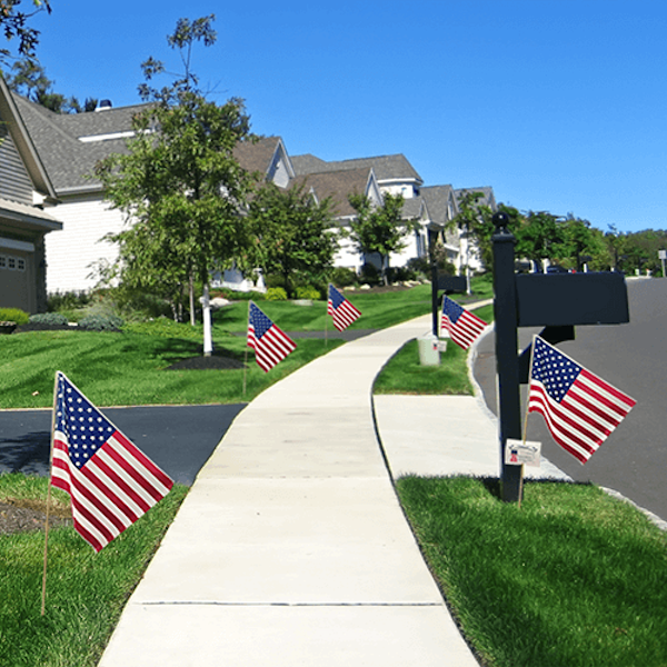 Realtor Neighborhood farming - American Flags