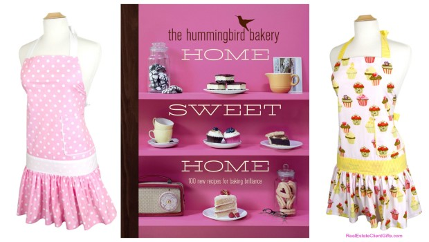 Women's Housewarming Gifts - Aprons & Cookbooks!, Realtor Closing Gifts for Women