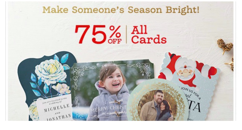 Zazzle Holiday Card Flash Sale
