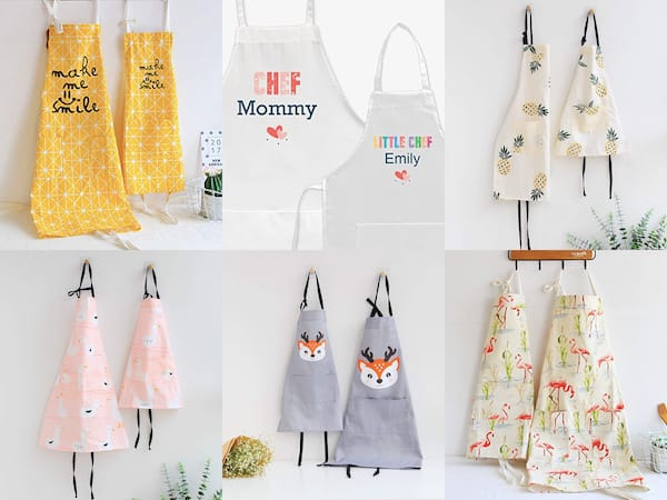 Mommy Chef + Little Chef Matching Aprons