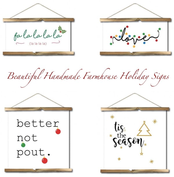Beautiful Handmade Farmhouse Holiday Signs