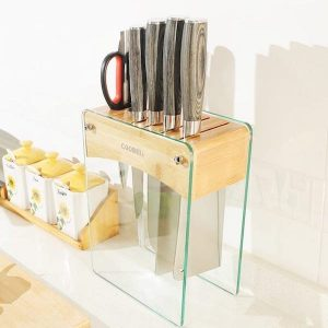 Tempered Glass Kitchen Knife Holder