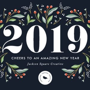 A Beautiful Year Corporate Holiday New Year Cards