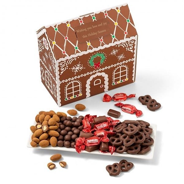 Festive Chocolate and Nuts Gingerbread House