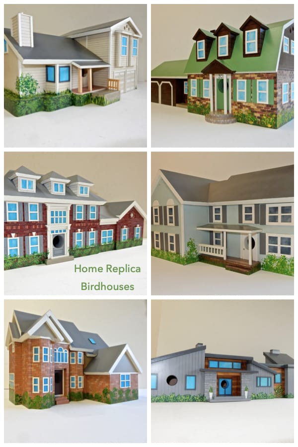Home Replica Birdhouses Housewarming and Realtor Closing Gifts