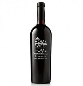 Home Sweet Home Personalized Wine Bottle Realtor Closing Housewarming Gift