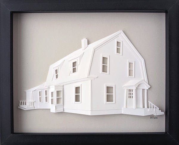 custom 3d architectural portraits realtor closing housewarming gift