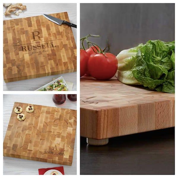 Personalized Butcher Block Cutting Board Realtor Closing Housewarming Gift