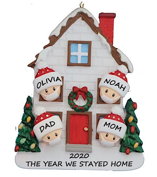 2020 The Year We Quarantined at Home Family Ornament