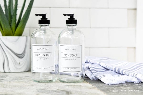 Kitchen Chic Hand Soap and Dish Soap Dispensers