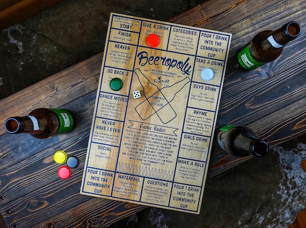 Beeropoly Drinking Game Housewarming Realtor Closing Gift for Him