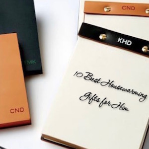 Best Housewarming Gifts For Him Leather Stationary
