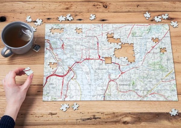 Custom Hometown Map Puzzle Housewarming Realtor Closing Gift