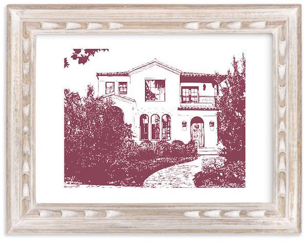 Custom House Portrait Housewarming Realtor Closing Gift