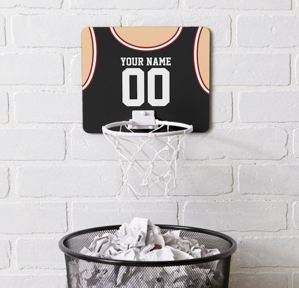 Custom Name Number Mini Basketball Hoop Housewarming Gift for Him