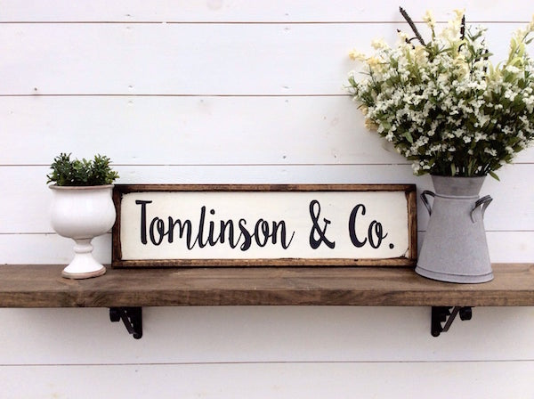 Family Rustic Sign Housewarming Realtor Closing Gift