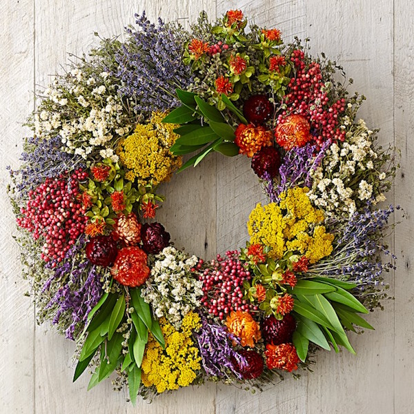 Farmers Market Housewarming Realtor Closing Wreath Gift