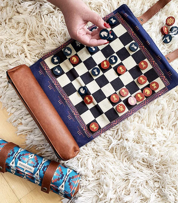 Pendleton Chess and Checkers Set housewarming Realtor Closing Gift
