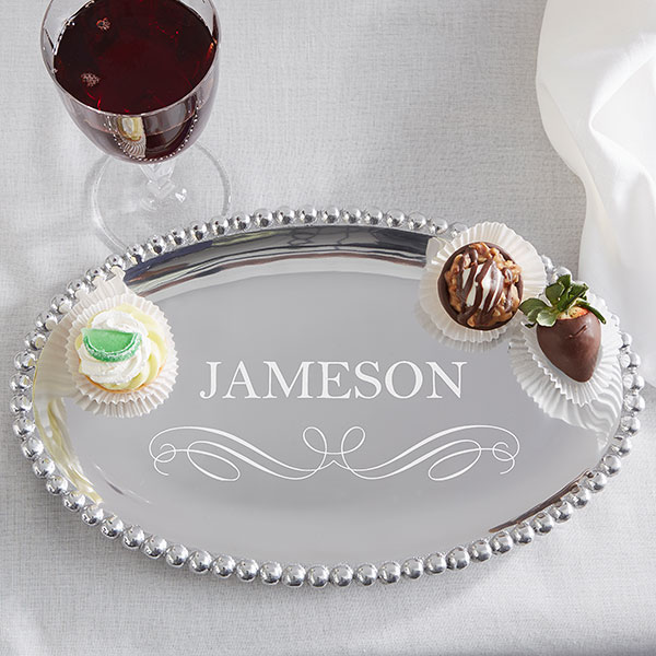 Personalized Handcrafted Serving Tray