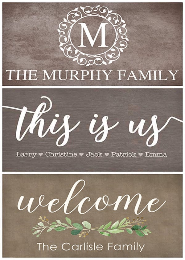 Welcome Doormats Housewarming Realtor Closing Gifts