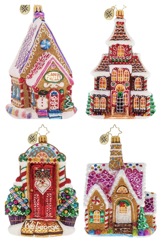 Christopher Radko Hand-Crafted European Glass Christmas Home Ornaments