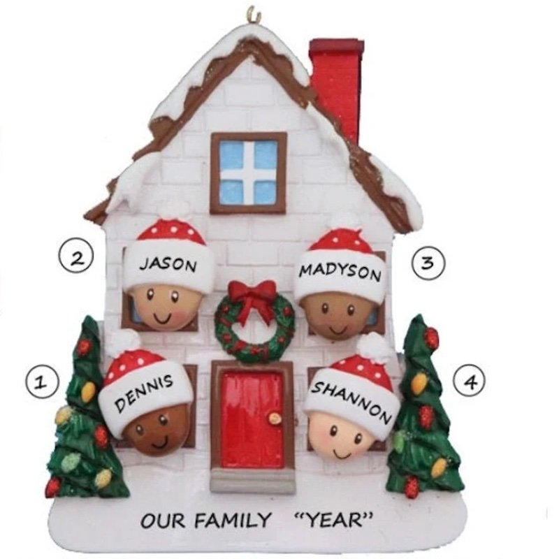 Personalized Family at Home Ornament